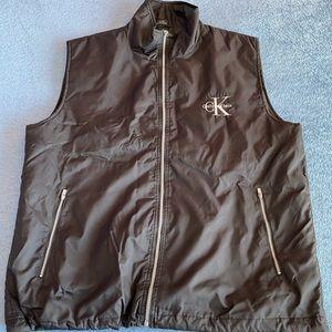 Calvin Klein Black Zip-Up Vest